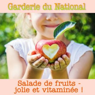 Garderie du National repas fruits